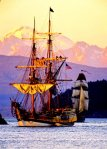 Lady Washington under Mt. Baker