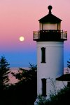 Lighthouse Moonset, Admiralty Head, Whidbey Island
