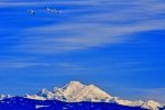 Snow Geese over Mt. Baker