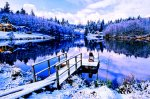 Winter, Honeymoon Lake, Whidbey Island